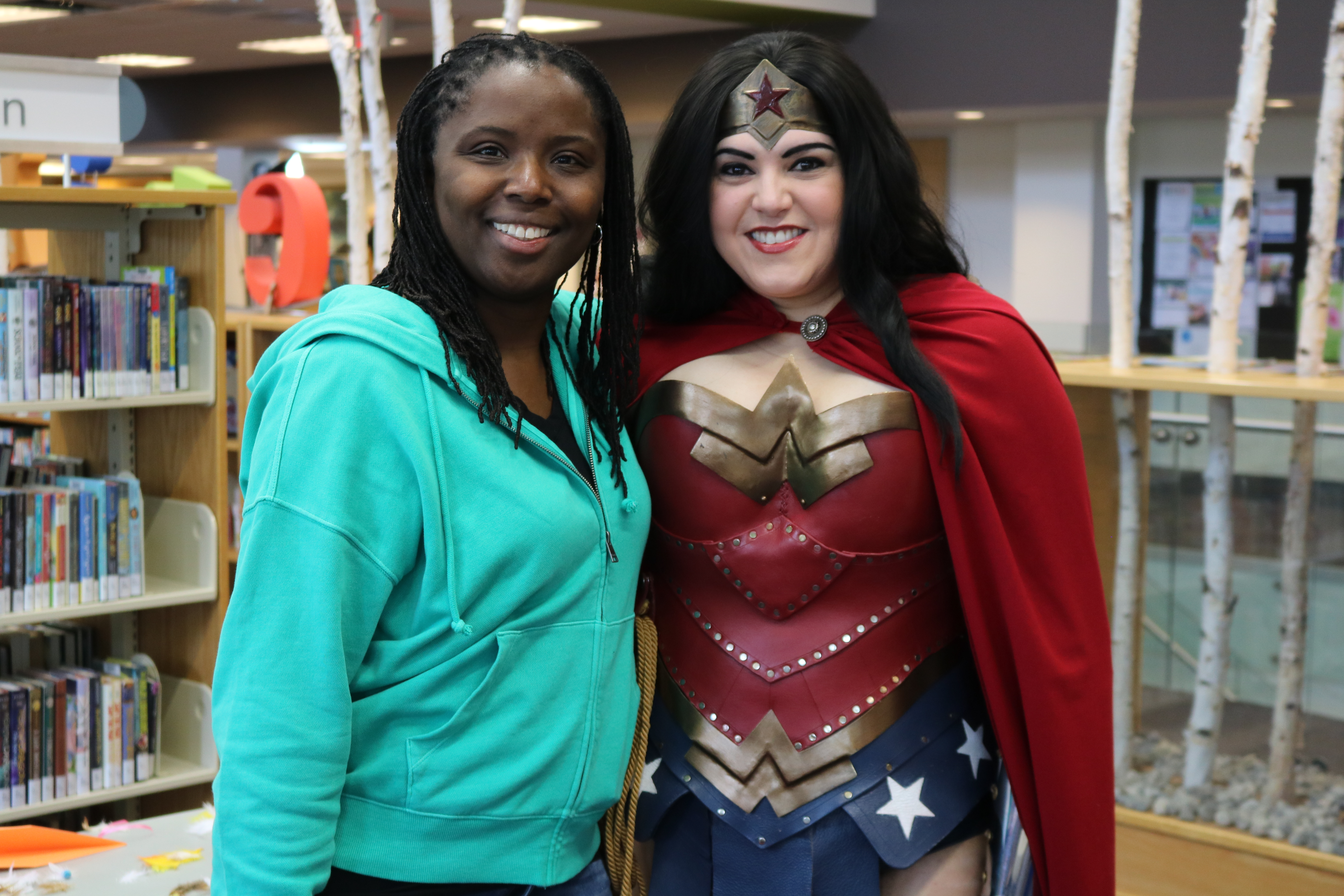 FanFest 2019 Wonder Woman and Library patron