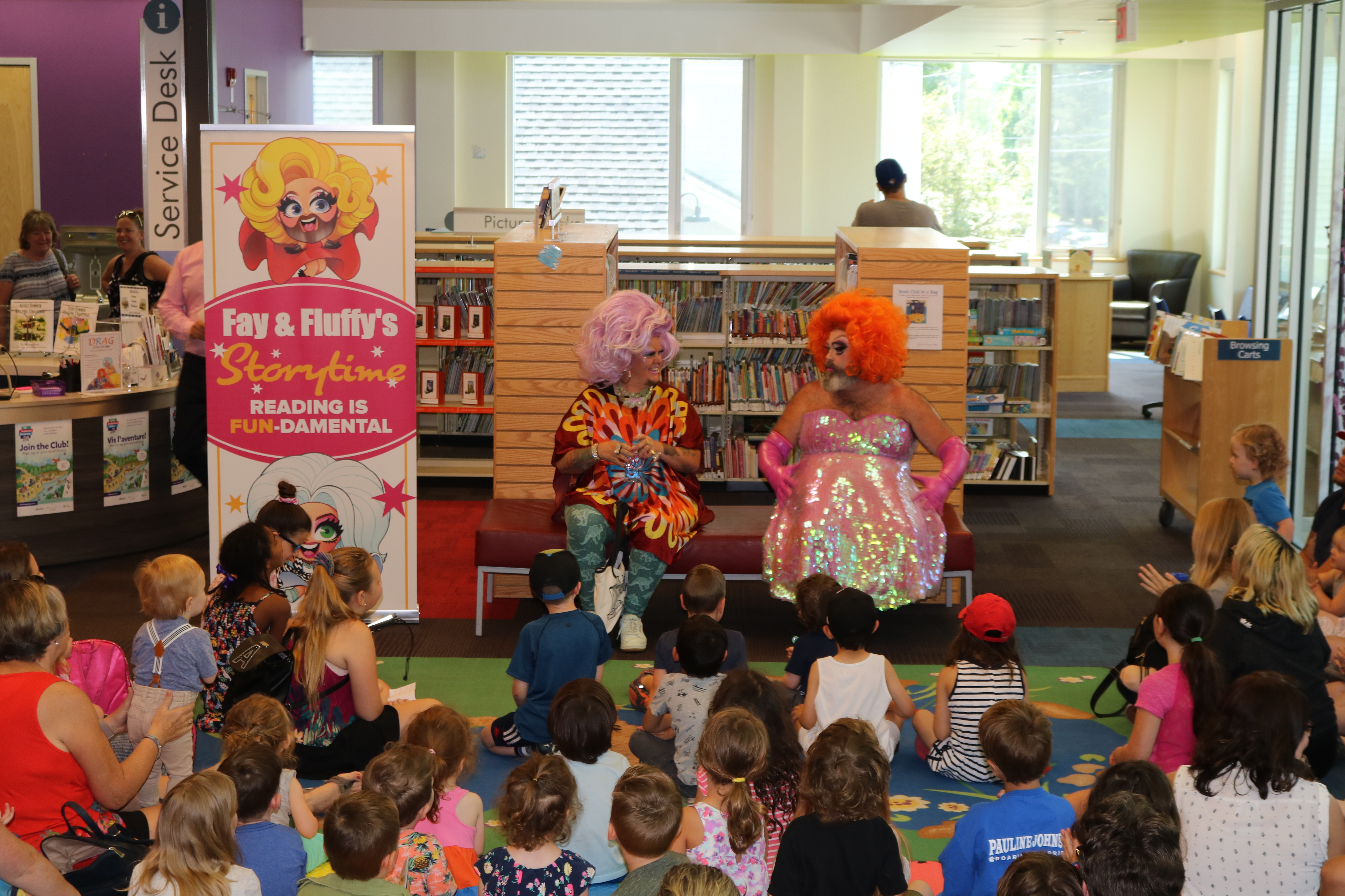 Drag Queen Storytime with with Fay and Fluffy